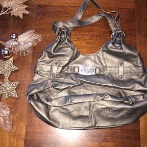 Nine West metallic grey Hand bag